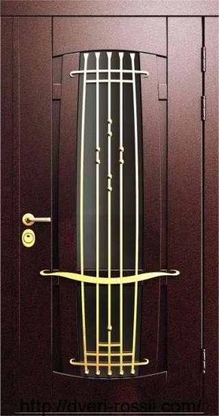 Дверь входная металло-филёнчатая