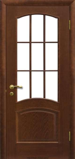 Купить двери модель капри-3-по-темный дуб фабрика Халес