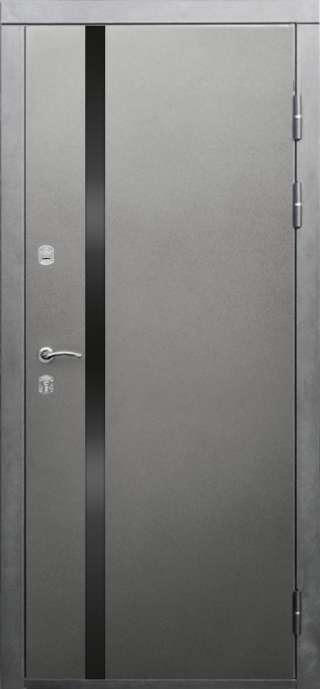 Входная двери-металлик со стеклом