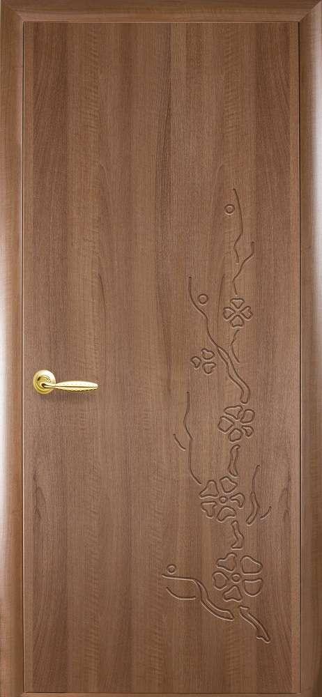 Ламинированные межкомнатные двери Новый Стиль Модель Сакура в цвете Золотая ольха