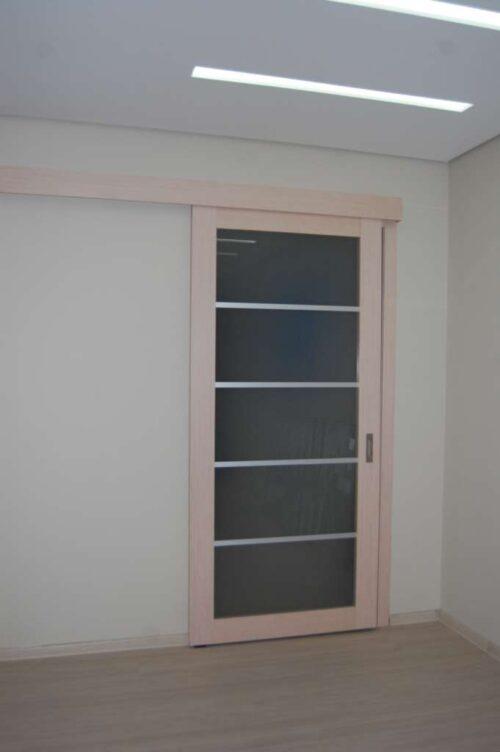 раздвижные двери беленый дуб