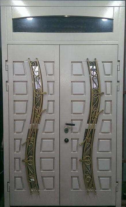 Двери в дом двойные