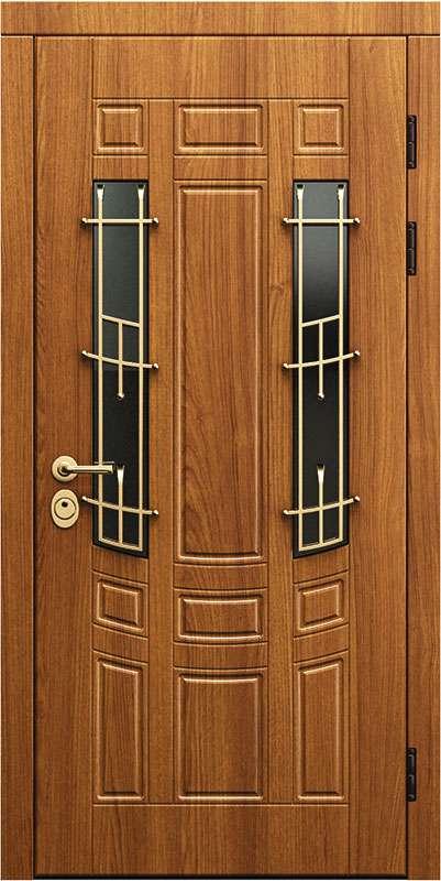 Двери в дом со стеклом