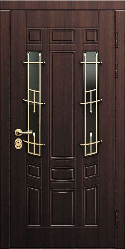 входные стальные двери со стеклом не дорогой