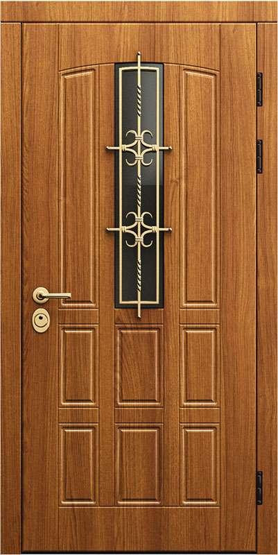 Двери для дома со стеклом мс-002