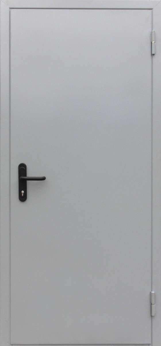 Двери противопожарные серые
