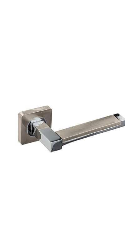 Дверная ручка Гаврош Платинум никель-хром