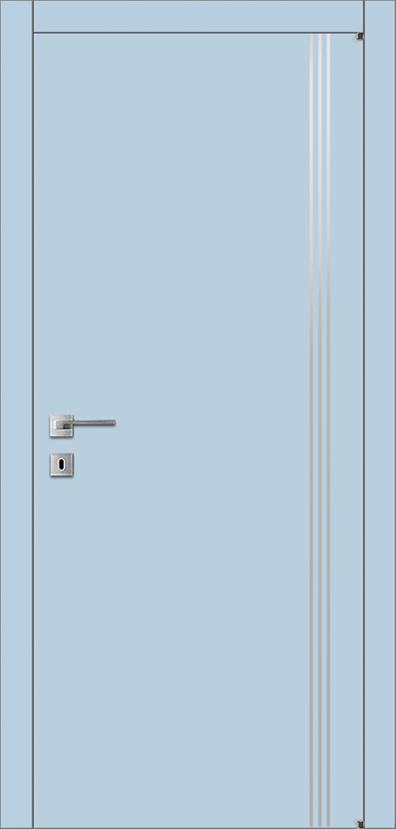 Межкомнатная дверь щитовая крашенная с молдингами