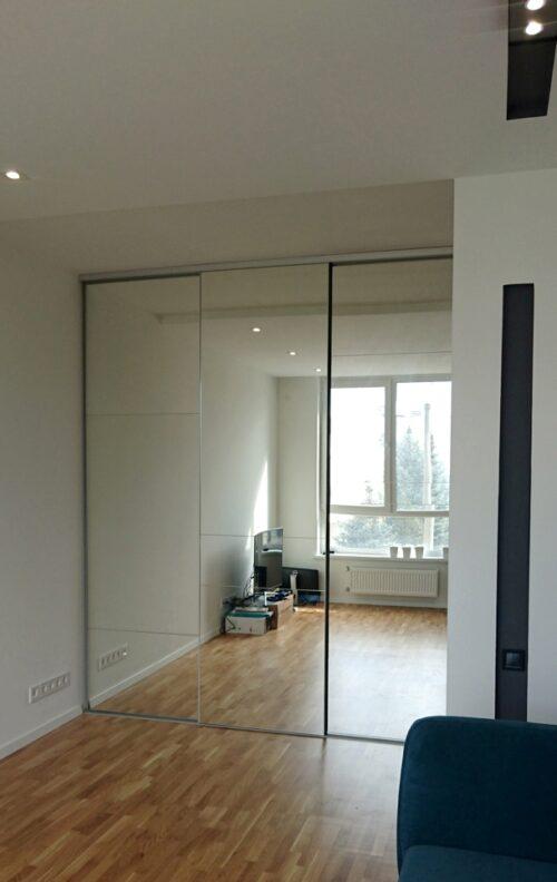Межкомнтная дверная перегородка зеркало