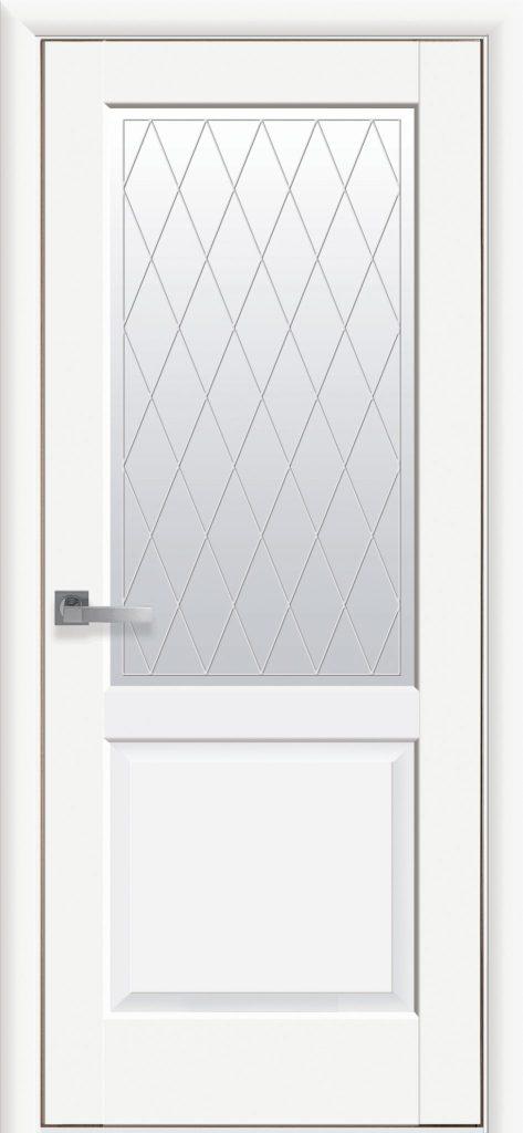 Двери Эпика Новый стиль белый мат R2
