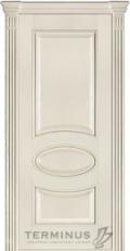 Межкомнтаная дверь модель 55 ясень крема