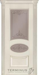 Терминус 55 модель межкомнатной двери ясень крема стекло бронза