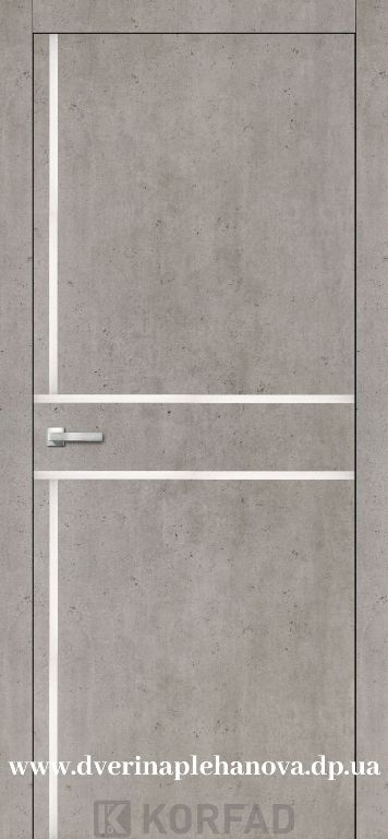 Дверь межкомнатная АЛП 06 лайт бетон